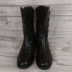 Napoleoni Women Belted Boots Made In Italy Size 6